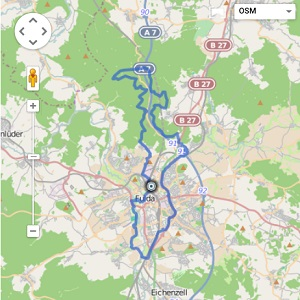 GPS Tracks – Ausgedehnte Hausrunde – Michelsrombacher Wald