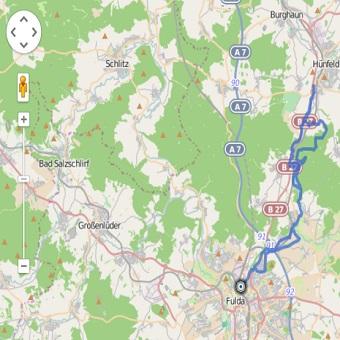 GPS Tracks – MTB Tour – Fulda – Hünfeld