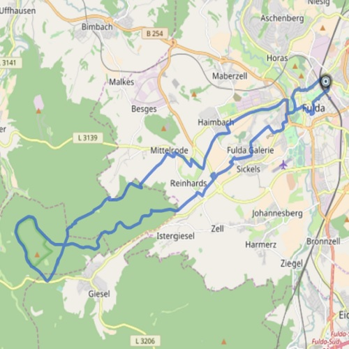GPS Tracks – MTB Tour – Fulda – Himmelsberg