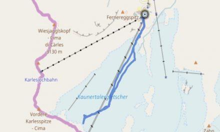 GPS Tracks – Weisseeferner – MONTAINEERING